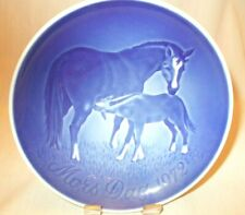 """5-3/4"""" Vintage Bing & Grondahl 1972 Mothers Day Plate Mare & Foal"""