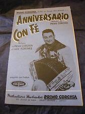 Partition Anniversario Primo Corchia Con fé Music Sheet
