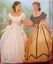 Butterick 6693 Making History CIVIL WAR DRESS 18-22 Costume Sewing Pattern