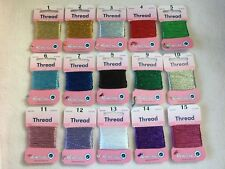 HEMLINE GLITTER THREAD ~ 15 SHADES ~ 10 metres ~ SPARKLY ~ SEWING ~ CRAFTS