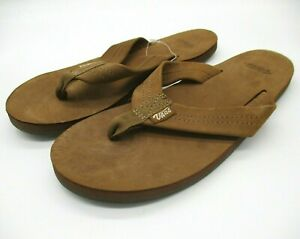 VANS Santa Rosa Womens Size 3.5 Flip Flops Brown