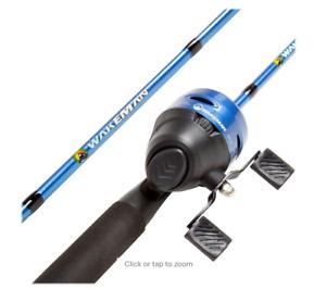 Wakeman - 2-Piece Rod and Reel Fishing Pole - Sapphire Blue Metallic