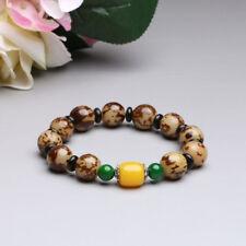 12mm Flower Bodhi & Beeswax Beads Tibetan Buddhism Bracelet