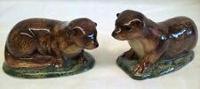 More details for quail ceramic otter salt & pepper pots condiment or cruet set - wildlife animal
