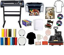 """5in1 Heat Press,24"""" 500g LaserPoint Vinyl Cutter Plotter,Printer,Refil PU,Tshirt"""