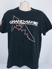 Grand Am Road Racing Large L Vintage Short Sleeve Graphic Tee T-Shirt Black
