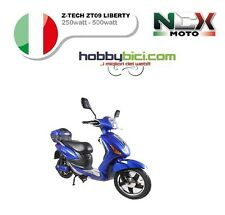 SCOOTER ELETTRICA Z TECH ZT-09 LIBERTY S4 12 LITIO AH NCX 250/500 watt48v BLU