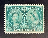 Canadian Stamp, Scott #52 2c Jubilee Issue 1897 M/LH. Beautiful color.