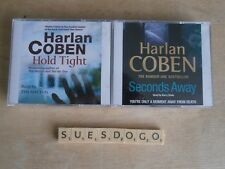 HARLAN COBEN HOLD TIGHT & SECONDS AWAY - 2 CRIME AUDIO BOOKS - 9 CDS PLAYED ONCE