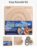 Fácil Roundel Kit Círculo Plantilla Gyro Cortar Gyro-Cut Corte Madera