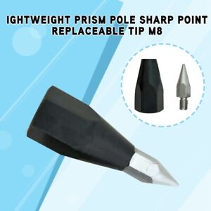 Lightweight Prism Pole Sharp Point Replaceable Tip M8 Thread for
