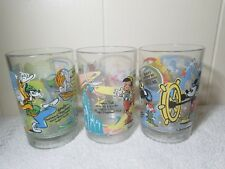 Vintage Disney World 100 years of Magic McDonald's Set of 3 Tumblers 1996