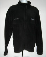 Mens embroidered Columbia Paypal Fleece Jacket XXL black full zip pockets