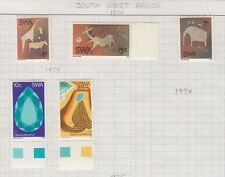 SOUTH WEST AFRICA 1974 DIAMOND & CAVE PAINTINGS SC #367-71 MINT LH CAT $26.85