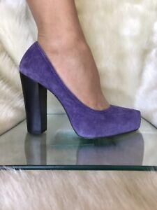 Michael Kors  lavender colour suede shoes,pump heels. Size 7 M.
