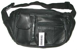 BELT-PURSE Black Genuine Leather bag