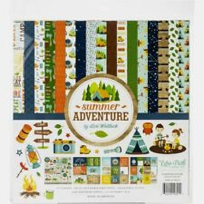 """Echo Park 12"""" X 12"""" Paper Collection Kit Summer Adventure  NEW"""