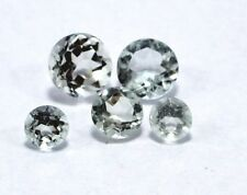 5 Pcs Natural Aquamarine Loose Gemstone 4-6MM Approx Round Faceted Cut Lot S2541