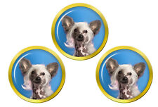 Chinese Crested Dog Golf Ball Markers