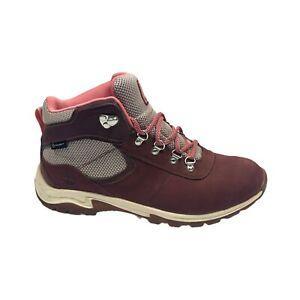 Timberland Womens Mt. Maddsen Pink Nubuck Hiking Boots Size 8.5