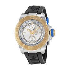 New Mens Invicta 13994 Pro Diver Silver Dial Black Rubber Strap Watch