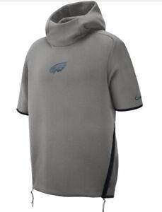 Nike Philadelphia Eagles Sideline Repel Short Sleeve Pullover Hoodie XXL $150