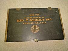 Vintage Printers Letterpress Type Traydrawer Geo T Schmidt Job Case