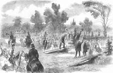 HAMPSHIRE. Inauguration Calthorpe Park. Duke Cambridge planting tree, 1857
