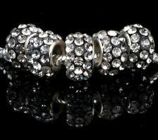 5PCS Wholesale Black + white Beads Necklace European charm Bracelet Chain M#734