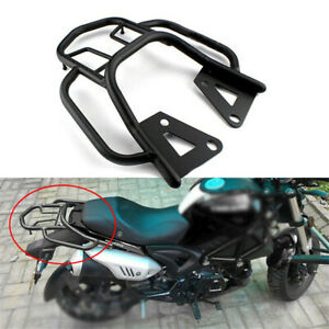 1PC Motorcycle Accessories Rear Shelf Refitted Box Tail Fin Luggage Rack Black