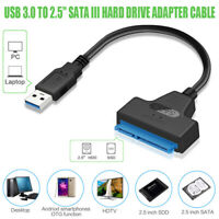 "USB 3.0 to 2.5"" SATA III Hard Drive Adapter Cable/UASP Converter Fit For SSD/HDD"