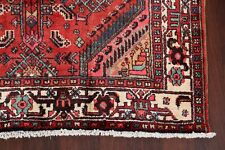 Excellent Vintage Geometric Hamedan Area Rug Hand-Knotted Wool Foyer Carpet 4x7