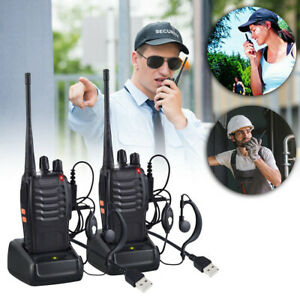 1 x Baofeng Walkie Talkies Long Range Two Way Radio UHF 16CH with Headsets