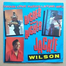 "JACKIE WILSON (YOUR LOVE KEEPS LIFTING ME) HIGHER AND HIGHER 7"" SKM10 87 SOUL 45"