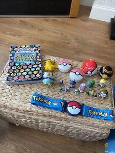 "Pokemon Clip ""N"" Go Belt Adjustable Pokeball Book And 12 Figures Bundle Job Lot"
