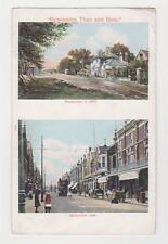 Boscombe,U.K.2 Views - Then (1876) & Now (1909),Dorset,Used,Bourne mouth,1909