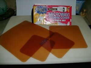 """Vintage Microwave Cooking Cover 4 Pc Set - Made In CA-USA - Item#1960 - 9""""/7""""/5"""""""