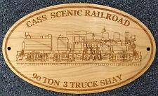 Cass Scenic Railroad Engraved Wooden Sign // Cass West Virginia // Tourism