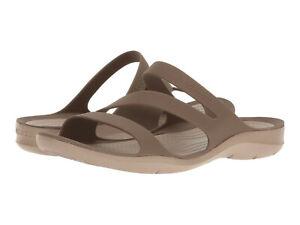 Women Crocs Swiftwater Sandal 203998-267 Walnut 100% Authentic Brand New