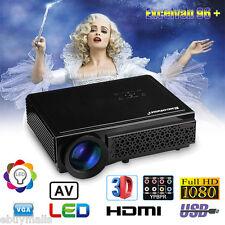 5000Lumens 1080P Full HD 3D Projector LED Home Cinema Theater HDMI/USB/AV/VGA EU