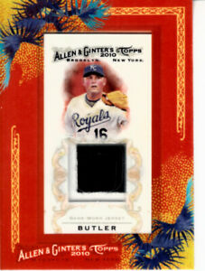 Billy Butler Kansas City Royals 2010 Topps Allen & Ginter game jersey patch card