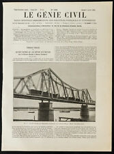 1909, Pont Long Biên (pont Doumer), sur le fleuve rouge, à Hanoï (Vietnam)