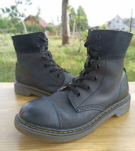 Dr Martens Triumph Aimilita Y Women 5 UK 7 US Fur Lined Leather Boots 6 eye