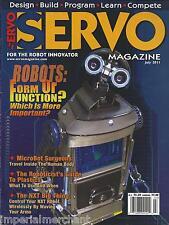 Servo magazine Robots Microbots surgeons Platics guide NXT Design and build