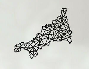 Cornwall Art - Wooden Laser Cut Wall Art - Geometric Country Art