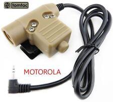 AIRSOFT TOMTAC U94 PTT TAN 2 WAY RADIO SWITCH SORDINS COMTAC MOTOROLA 1 PIN PUSH