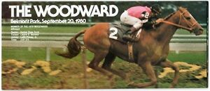 SPECTACULAR BID WALKOVER - 1980 WOODWARD HORSE RACING PROGRAM! MINT! AFFIRMED!