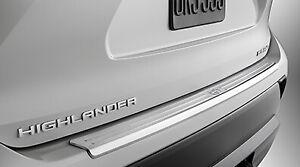 2020-2021 HIGHLANDER REAR BUMPER PROTECTOR DARK CHROME PLASTIC GENUINE TOYOTA