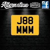 Rear Stick On Number Plate Sticker For Caravan Trailer 4x4 Offroader Motorsport