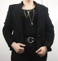 Separa Fink Blazer Coat Jacket Charcoal Grey Blogger long sleeve Size 14